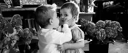 awwwww, cute, kisses, kissing, kids kissing GIFs