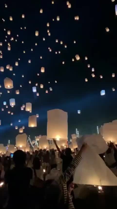 Watch and share Gorgeous Lantern Festival In Thailand Looks Dope GIFs by hjalmar111 on Gfycat