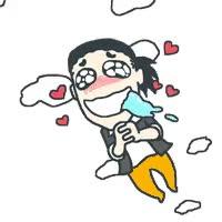 Watch and share 装逼 作死 搞笑 呵呵 Gif 泪目 开心 飞天 animated stickers on Gfycat