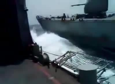 WarshipGfys, warshipgfys, Pakistan Navy Ship BABUR VS Indian Navy ship (reddit) GIFs