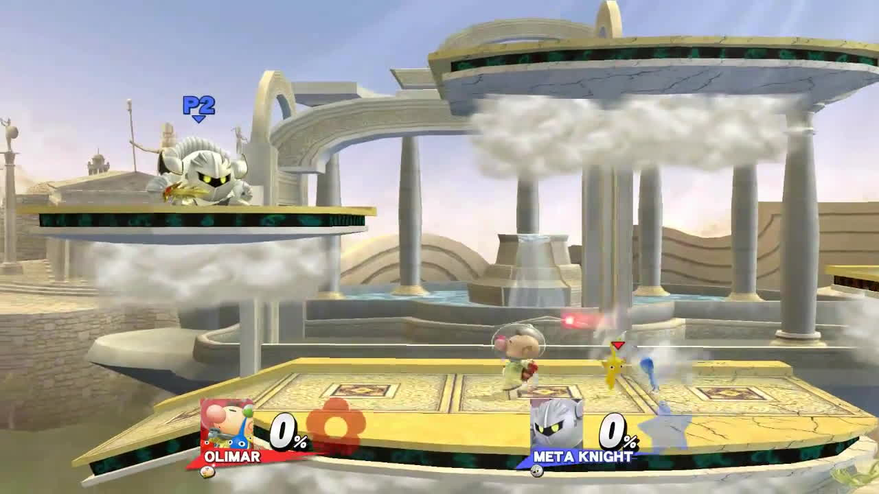 replays, smashbros, super smash bros., 10 - AC aerials UpB 3 pikmin vs No pikmin vs 2 pikmin (bair is only difference) GIFs