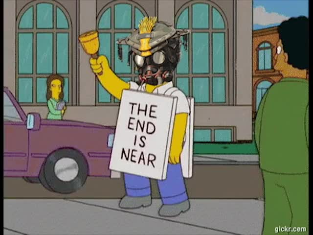 Watch and share End-is-near-Homer-Simpson 1 GIFs on Gfycat