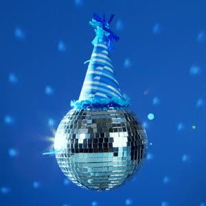 celebrate, dance, disco ball, party, slanted studios, Disco Ball Party Hat GIFs