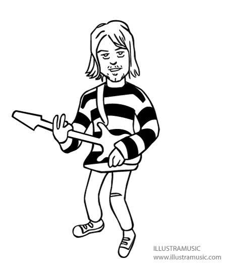 Watch and share Dessin Animé Kurt Cobain GIFs on Gfycat