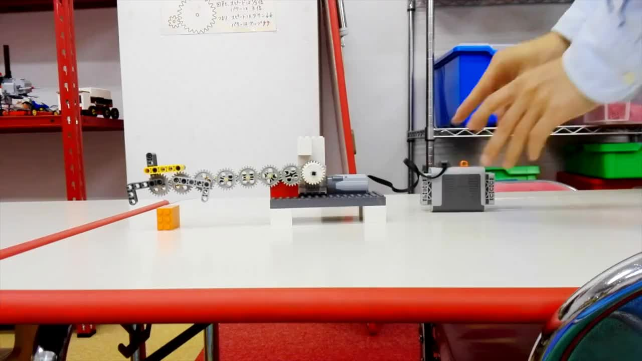 Lego, UFO, Lego レゴ モーターが1つだけのクレーンアーム Single Motor Crane GIFs