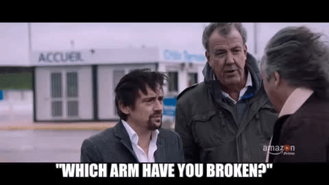 jeremy clarkson, Hammond: Which arm have you broken? (i..com) GIFs