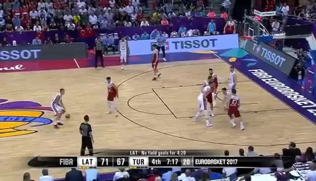Watch Latvia v Turkey - Full Game - FIBA EuroBasket 2017 GIF on Gfycat. Discover more related GIFs on Gfycat