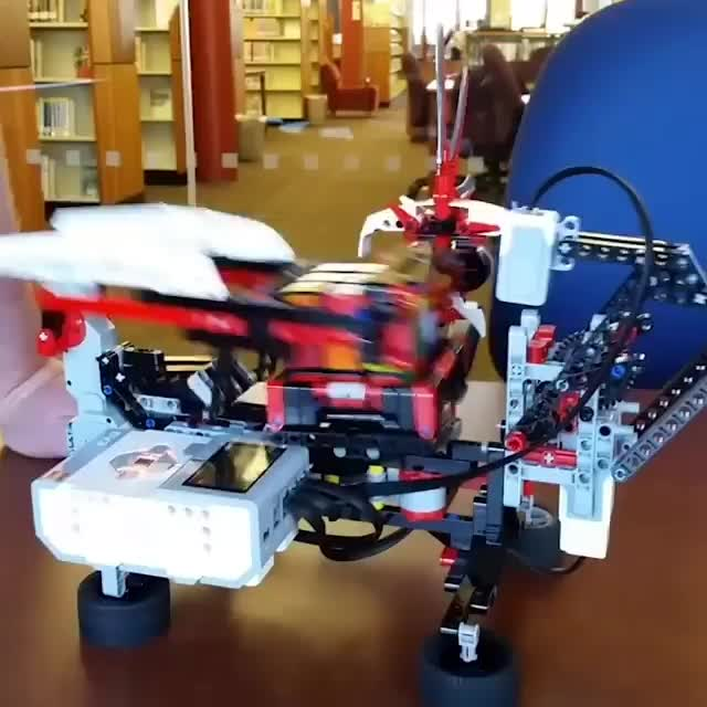 Robot made out of #Lego solves Rubik's Cube. GIFs