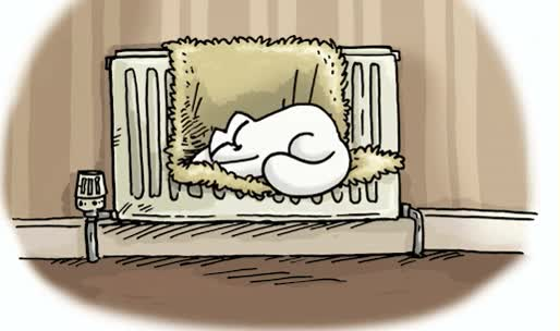 Watch and share Анимация Спящий Белый Кот Саймона, Мультик Simons Cat, Гифка GIFs on Gfycat