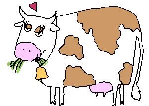 Watch and share Cow Eats 3 animated stickers on Gfycat