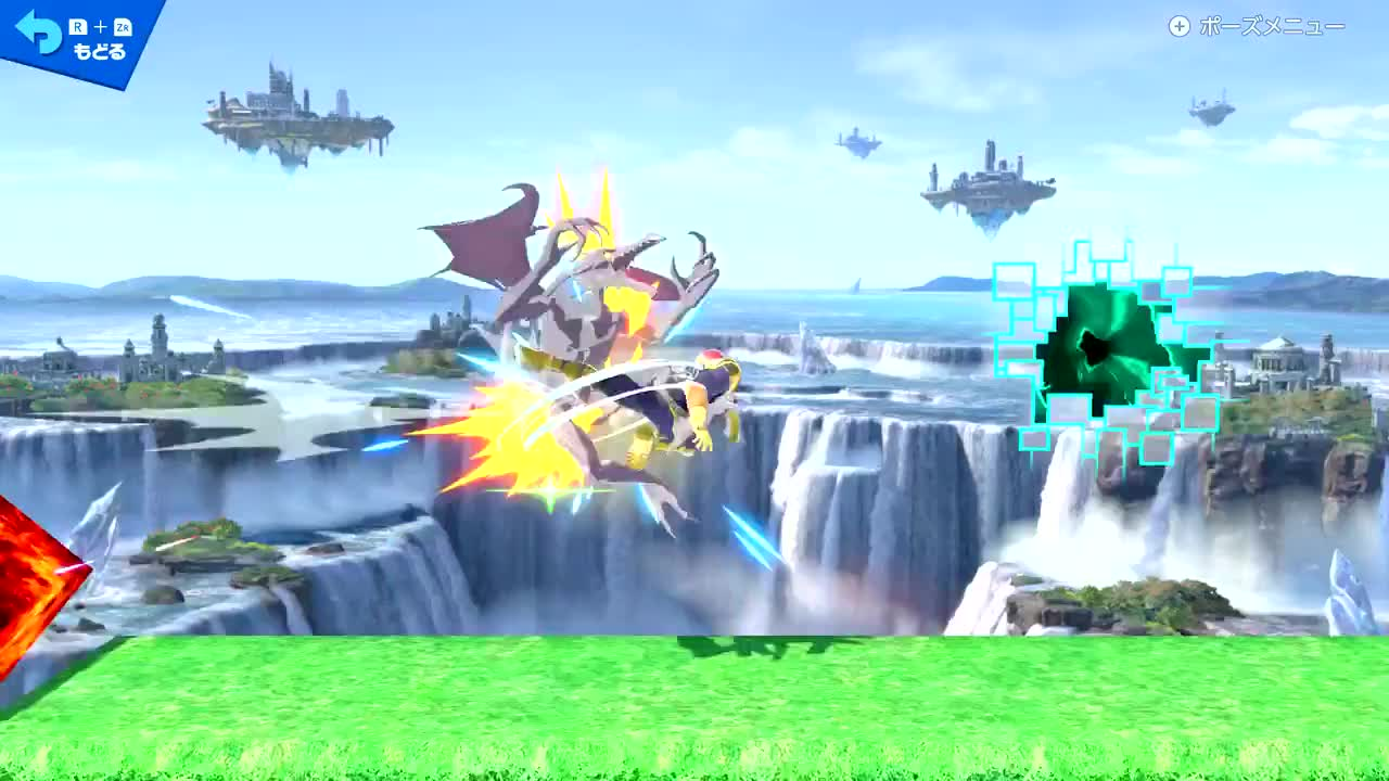 captain falcon, combo, smash, smash ultimate, とらいじん, [Smash] Captain Falcon Custom Combo GIFs