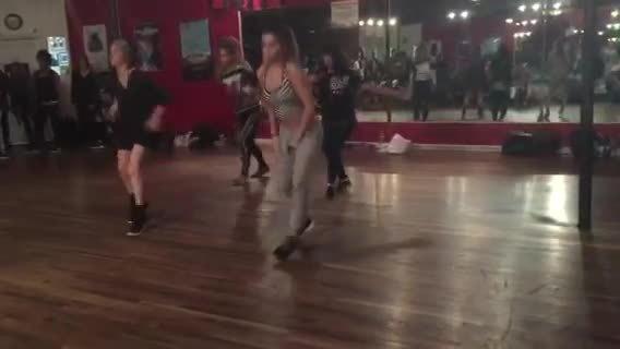 Tessa Brooks dancing in CJ Salvador's class (reddit) GIFs