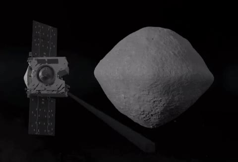 Watch Animation of OSIRIS-REx scanning asteroid Bennu GIF by Dave Mosher (@davemosher) on Gfycat. Discover more OSIRIS-REx, asteroid bennu, asteroids, nasa, scanning, space exploration, spacecraft GIFs on Gfycat
