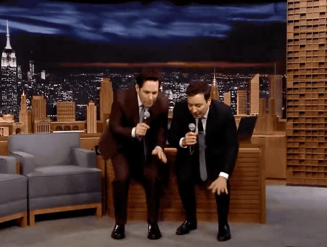 Watch this paul rudd GIF by GIF Queen (@ioanna) on Gfycat. Discover more best, bff, dance, dancing, fallon, forever, friends, jimmy, jimmy fallon, night, paul, paul rudd, rudd, saturday, show, sing, singing, tonight GIFs on Gfycat