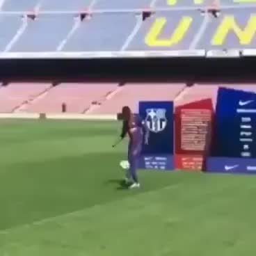 Watch and share Epic Funny  Dembele Fail Juggling Ball In Barcelona Presentation! GIFs on Gfycat