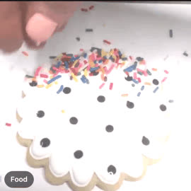 Icing, cookies, handwriting, penmanship, curly swirly cursive icing GIFs