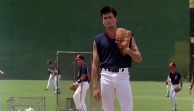Watch this baseball GIF on Gfycat. Discover more baseball, charlie sheen GIFs on Gfycat