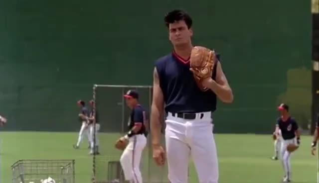 baseball, charlie sheen, dHau1P is an Animated GIF Image GIFs