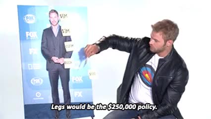 Watch Bullseye host Kellan Lutz explains how he would insure his b GIF on Gfycat. Discover more bullseye, emmet cullen, kellan lutz, the expendables 3, the legend of hercules, twilight, yahoo tv GIFs on Gfycat