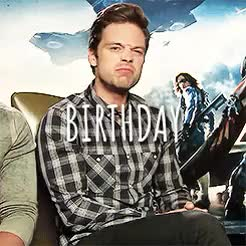 Watch and share Sebstan Bday 2015 GIFs and Sebastian Stan GIFs on Gfycat