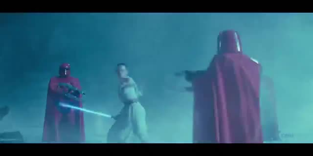 Watch and share Rey Vs Palps Royal Guard GIFs by ANTHP on Gfycat