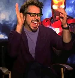 Watch and share Robert Downey Clapping And GIFs on Gfycat