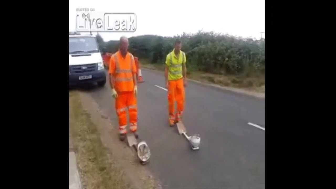 holdmybeer, yesyesyesno, Road crew almost succeed with hat trick (reddit) GIFs