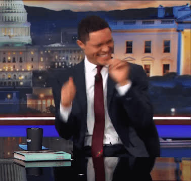 cant even, cracking up, daily show, funny, haha, hilarious, laughing, lol, too much, trevor noah, Trevor Noah Cracking Up GIFs