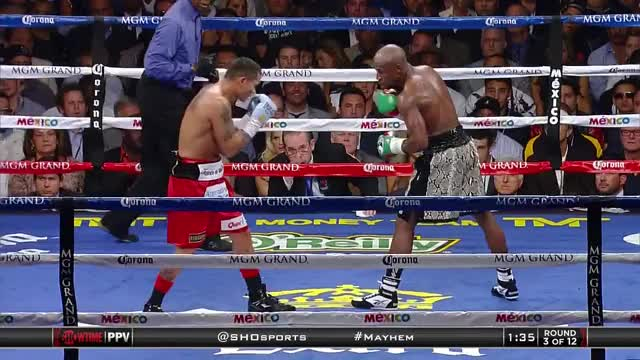 Watch Mayweather vs. Maidana 2 gifs/gfys [720p][60fps] (reddit) GIF by @executiontime on Gfycat. Discover more Boxing, boxing GIFs on Gfycat