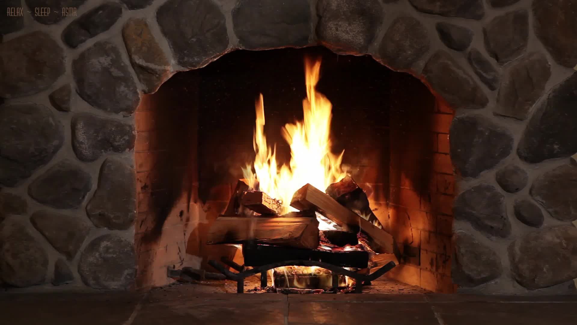 Tv Fireplace With Relaxing Crackling Sounds Of Wood Burning 10
