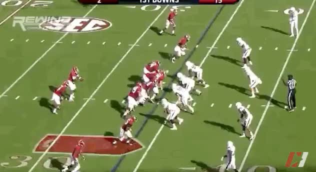 Watch and share Yeldon V A&M: Speed Through Hole, Breaking Tackles GIFs by eagles3217 on Gfycat