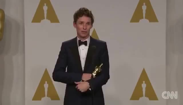 Watch and share Eddie Redmayne GIFs and Oscars GIFs on Gfycat