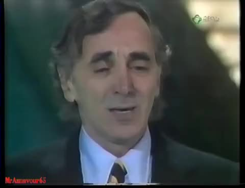 Watch and share Charles Aznavour Chante Poi Passa  - Festival Di Sanremo  - Italia 1981 GIFs on Gfycat