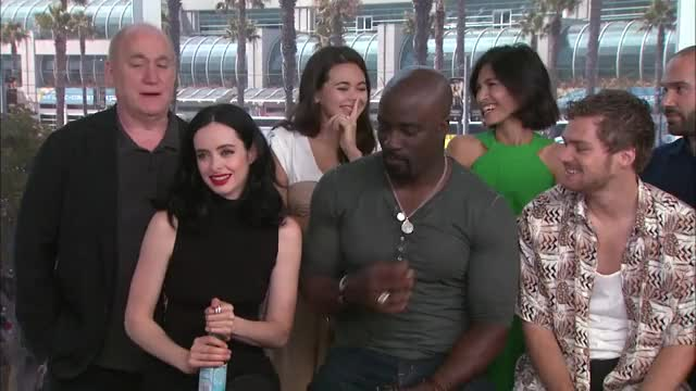 Watch Comic Con 2017: Live With The Cast Of Marvel's 'The Defenders' On Netflix GIF on Gfycat. Discover more Jessica Henwick, Krysten Ritter GIFs on Gfycat