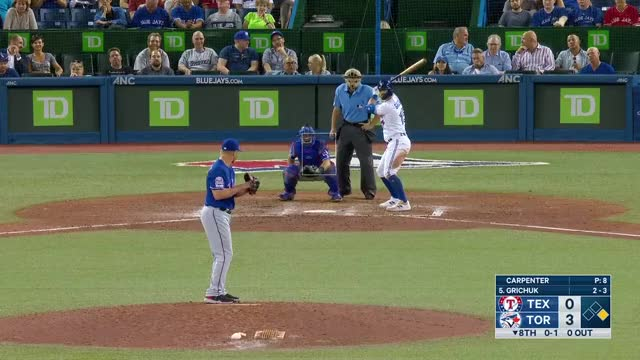Watch and share Toronto Blue Jays GIFs and Texas Rangers GIFs by larrybryers31 on Gfycat
