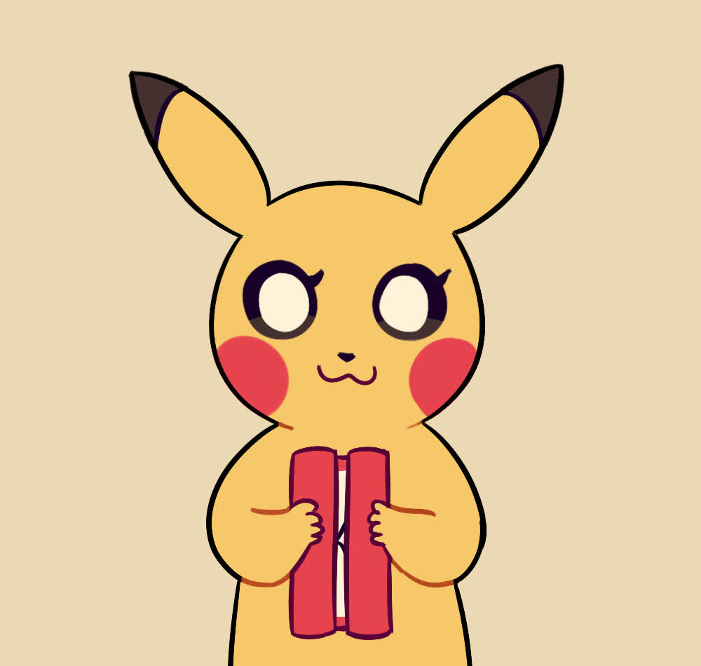 cute, grateful, love, pikachu, pokemon, sweet, thank, thanks, thanksgiving, you, Pikachu - Thank you GIFs