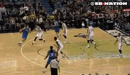Watch and share Anthony Davis Blocks Dirk Nowitzki Fadeaway Anthony Davis Gifs GIFs on Gfycat