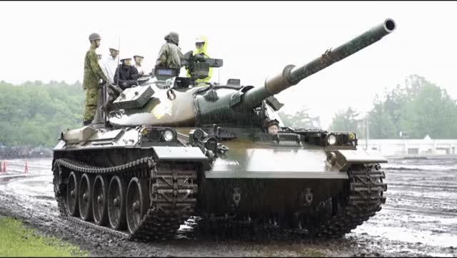 Watch and share June 16, 2019 - A Muddy Ride On A Japanese Type 74 Tank. Japan Ground Self-Defense Force, Iwate Base GIFs by the5souls on Gfycat
