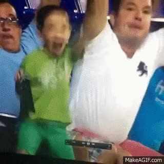 Watch and share Crazy Kid At The World Cup! Lifts Up Shirt And Dances! GIFs on Gfycat