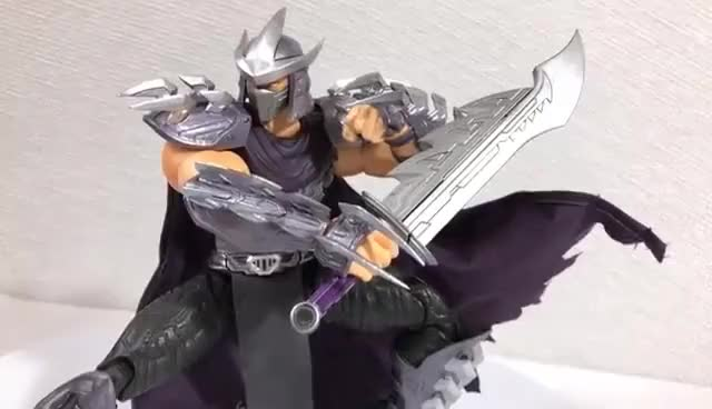 Watch and share Oroku Saki [Shredder] First Gokin TMNT Review GIFs on Gfycat