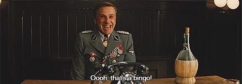Watch bingo gif GIF on Gfycat. Discover more christoph waltz GIFs on Gfycat