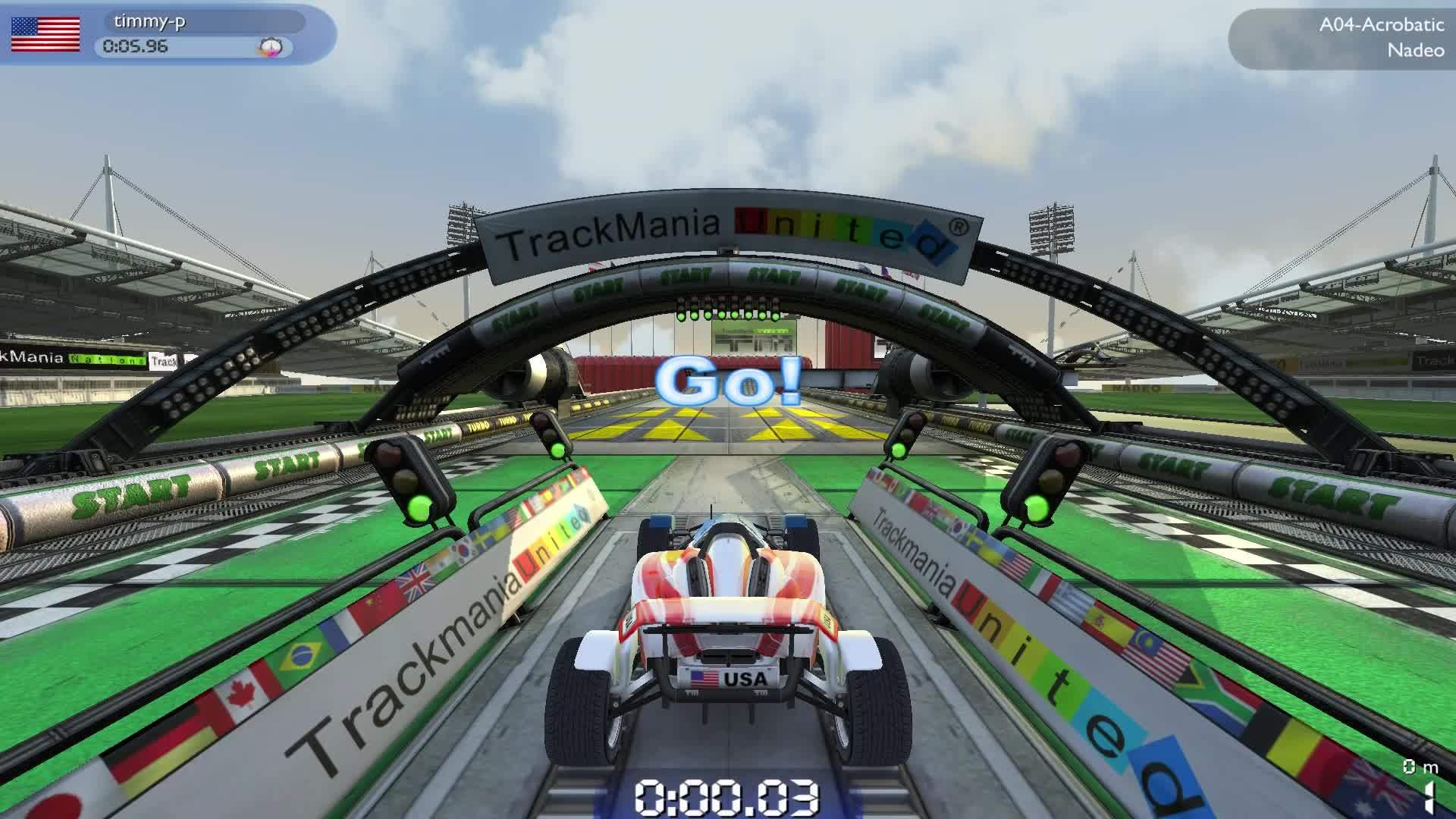 Trackmania, gamephysics, videogamestunts, Trackmania stone skipping GIFs