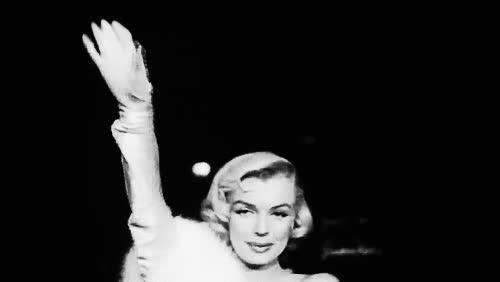 marilyn monroe, waving GIFs