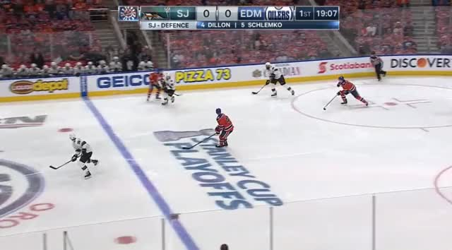 Watch and share Brent Burns Stretch Passes GIFs by cultofhockey on Gfycat