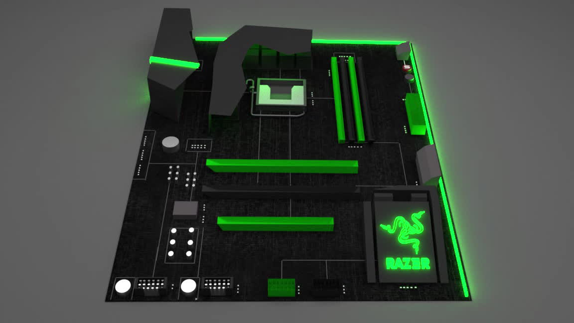 The Razer Chroma MotherBoard xD GIFs