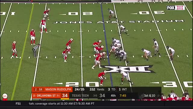 Watch and share 2017 NCAA Football Week 5: Oklahoma State At Texas Tech GIFs by Pistols Firing on Gfycat