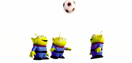 Watch and share Marcianitos Toy Story El Gancho Juegan Futgol Animado Humor Futbol GIFs on Gfycat