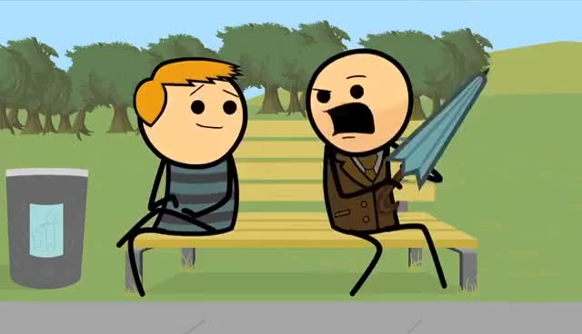 Watch and share Happiness GIFs and Cyanide GIFs on Gfycat