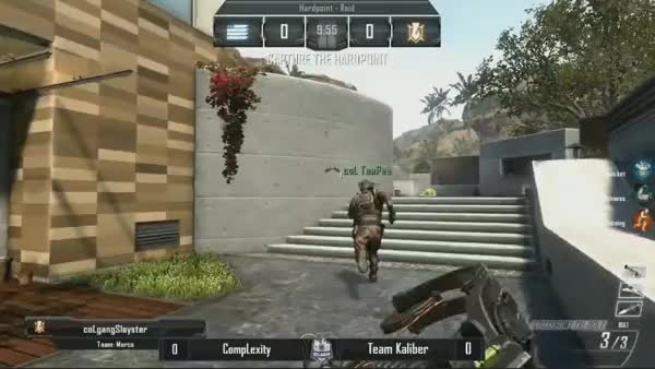 Clayster blows up the van for a two piece with a crossbow. (reddit)