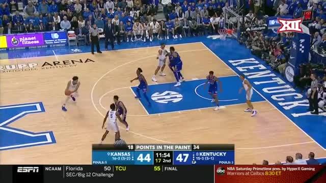 Watch NCAA Kansas vs Kentucky Jan 26,  2019 GIF by @gyrateplus on Gfycat. Discover more NBA National Basketball Association, People & Blogs, basketball GIFs on Gfycat